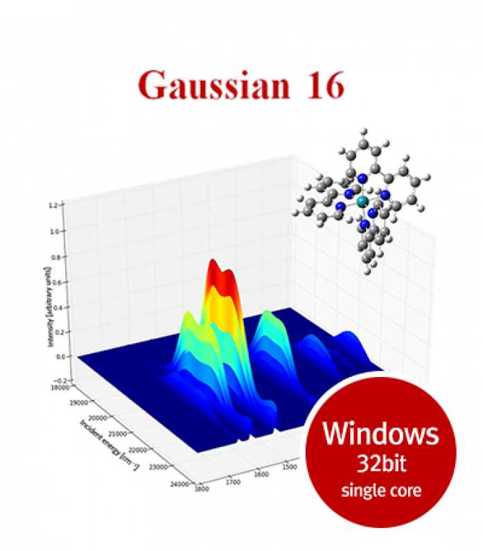 Gaussian16 for Windows 32bit single core